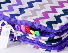 Set fialový ZigZag