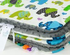 Set zelení sloni s šedou