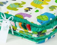 Set zelení sloni se zelenou