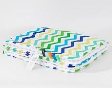 Deka zeleno-modrý ZigZag s bílou, LETNÍ 75x100