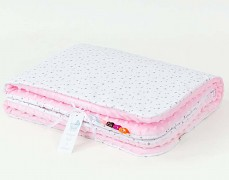 Deka bílé mini hvězdičky s růžovou, LETNÍ 75x100