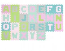 Pěnové puzzle pastelové-písmena 26ks