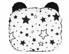 Podhlavníček černobílé hvězdy s černou medvídek