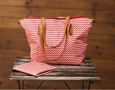 Přebalovací taška červená CikCak