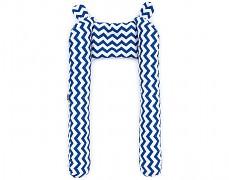 Mantinel modrý tmavý Zigzag, tvarovaný