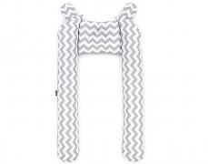 Mantinel šedý Zigzag, tvarovaný
