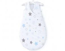 Dětský spací pytel modro-šedá stars
