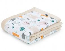 Dětská deka barevný lesík velvet
