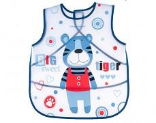 Plastový modrý bryndák zástěra s kapsou PUPPETS