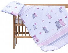 Dětské povlečení růžovo-fialová Pupis