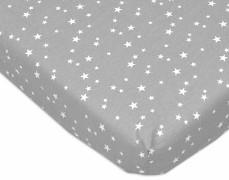 Bavlněné prostěradlo šedé mini hvězdičky