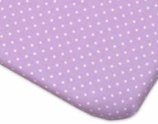 Bavlněné prostěradlo fialové tečky