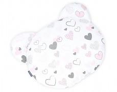 Polštářek pink heart, medvídek