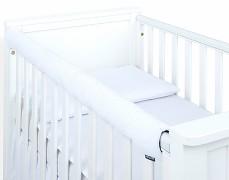 Chránič bílý prošívaný velvet