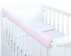 Chránič růžový světlý prošívaný velvet