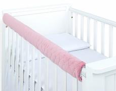 Chránič růžový prošívaný velvet
