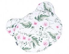 Polštářek růžová zahrada, medvídek