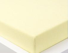Froté prostěradlo žluté