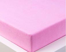 Froté prostěradlo růžové 120x60