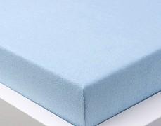 Froté prostěradlo modré