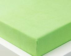 Froté prostěradlo zelené 120x60