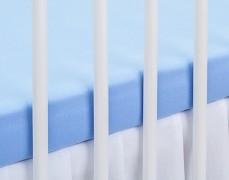 Bavlněné prostěradlo modré