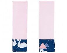 Chrániče na pásy modro-růžové labutě