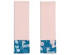 Chrániče na pásy tyrkysovo-růžový les