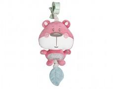 Plyšový hrající růžový medvídek