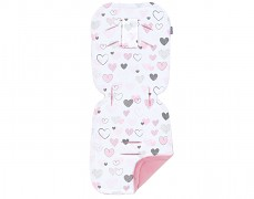 Podložka do kočárku pink heart