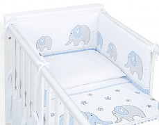 Dětské povlečení modrá elefanti