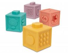 Měkké senzorické hrací kostky 12ks