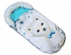 Fusak modrý medvídek s kožešinkou