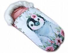 Fusak růžový tučňák s kožešinkou