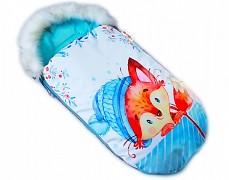 Fusak modrý liška s kožešinkou