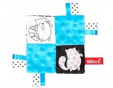 Mazlík šustík modrý kočičky