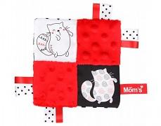 Mazlík šustík červený kočičky