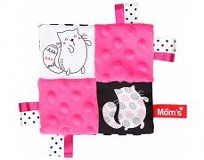 Mazlík šustík růžový kočičky