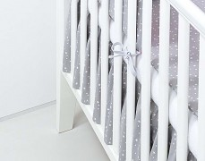 Volánek pod matraci šedý mini hvězdičky