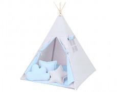 Dětské TeePee šedo-modré