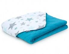 Dětská deka modrá starmix velvet, LETNÍ