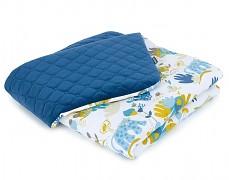 Dětská deka modrá Savana velvet