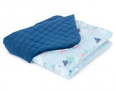 Dětská deka tyrkysové labutě velvet, LETNÍ