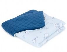 Dětská deka modrý Míša velvet, LETNÍ