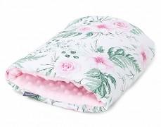 Kojící polštář na ruku růžová zahrada