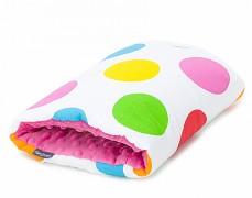 Kojící polštář na ruku barevné puntíky velké