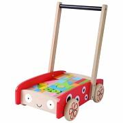 Dřevěný vozík beruška s kostkami