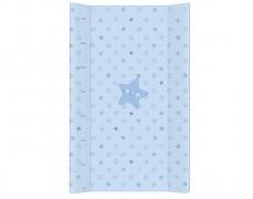 Přebalovací podložka modrá hvězda s pevnou vložkou 50x70