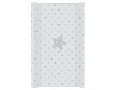 Přebalovací podložka šedá hvězda s pevnou vložkou 50x70