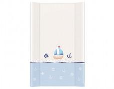 Přebalovací podložka modrá loďka s pevnou vložkou 50x70